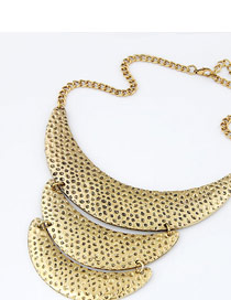 Stylish Gold Color Crescent Moon Shape
