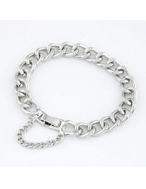 Caterpilla Antique Simple Chain Design Alloy Korean Fashion Bracelet