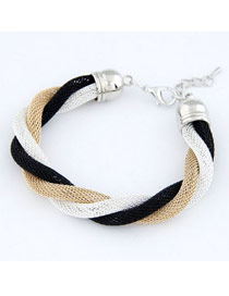 Huge Picture Color Simple Weave Design Alloy Korean Fashion Bracelet