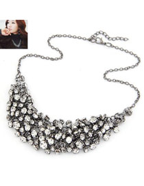 Sheer Antique Silver Cz Diomand Weave Multilayer Design