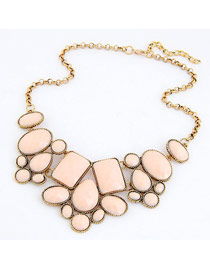 Automatic Pink Various Of Geometric Shape Pendant Design