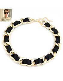 Pearl Black Chains Weaving Simple Design