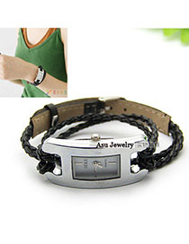 Collapsibl Black Roman Dial Alloy Ladies Watches