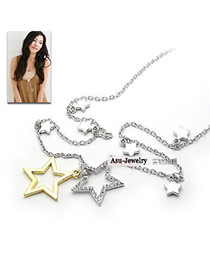 Physical Silver Color Five-Pointed Star