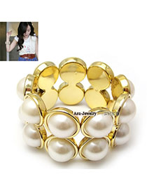 Heather White Sunflower Bee Alloy Fashion Bangles