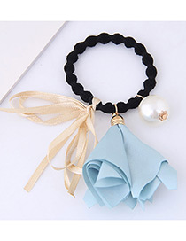 Lovely Blue Morning Glory&bowknot Decorated Hair Band