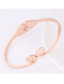 Elegant Gold Color Pure Color Decorated Simple Bracelet