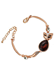 Fashion Red Fox Shape Decorated Simple Bracelet