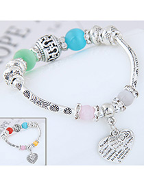 Fashion Red+blue/green+blue Heart Shape Decorated Bracelet (send Randomly)