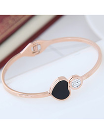 Fashion Rose Gold Heart Shape Decorated Bracelet