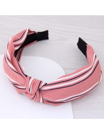 Fashion Pink Flower Pattern Decorated Hair Hoop