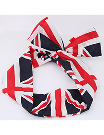 Fashion Red Flag Shape Decorated Hair Band