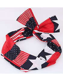 Fashion Red Star Shape Decorated Hair Band