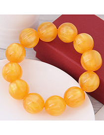 Fashion Yellow Bead Decorated Bracelet