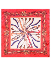 Fashion Red Bowknot Pattern Decorated Simple Scarf
