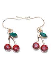 Lovely Red Cherry Decorated Earrings