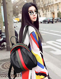 Fashion Green Color-matching Decorated Backpack