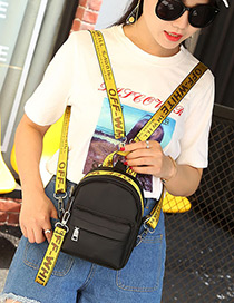 Lovely Yellow Letter Decorated Mini Backpack