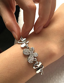 Elegant Silver Color Butterfly Shape Decorated Bracelet