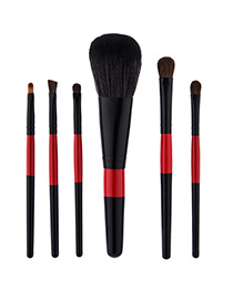 Fahsion Black +red Color-matching Decorated Brush (6pcs)