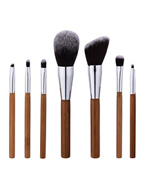 Fahsion Brown Color-matching Decorated Brush (7pcs)