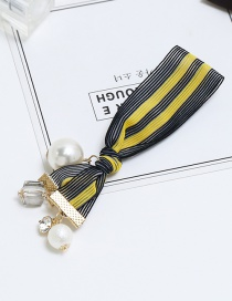 Elegant Yellow Color-matching Decorated Hair Band
