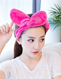Cute Plum-red Bowknot Decorated Washing Face Hair Band
