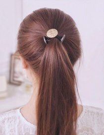 Fashion Gray Metal Round Shape Decorated Hair Band