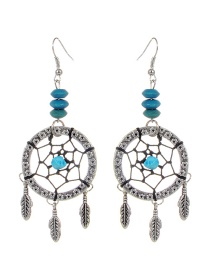Bohemia Blue Aeolian Bells Decorated Earrings
