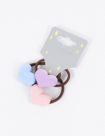 Lovely Multi-color Heart Shape Decorated Children Hair Band