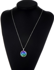 Fashion Silver Color Color-matching Decorated Necklace