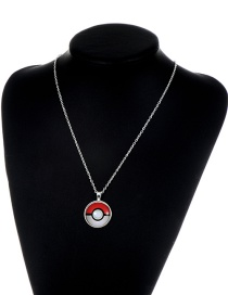 Fashion Red+white Poke Ball Decorated Necklace