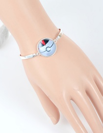Fashion White Poke Ball Decorated Bracelet