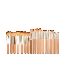 Fashion Red Pure Color Decorated Brush (25pcs)
