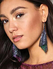 Fashion Multi-color Sequins Decorated Pure Color Simple Earrings