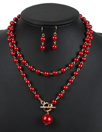 Fashion Red Hollow Out Decorated Jewelry Sets