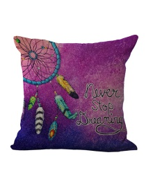 Fashion Purple Feather Pattern Decorated Simple Pillowcase