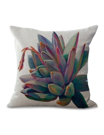 Fashion Multi-color Succulent Pattern Decorated Simple Pillowcase