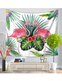 Fashion Multi-color Two Flamingo Pattern Decorated Simple Blanket