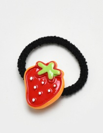 Lovely Red Strawberry Decorated Simple Hair Band (1pc)