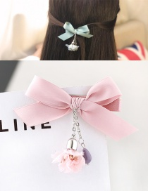 Fashion Pink Bowknot Shape Decorated Simple Hair Pin
