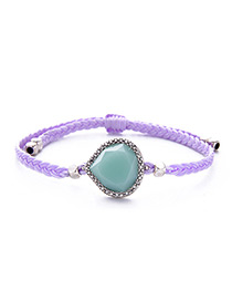 Fashion Purle Water Drop Decorated Simple Bracelet