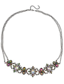 Fashion Multi-color Flower Shape Decorated Simple Body Chain