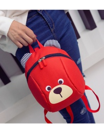 Lovely Red Cartoon Bear Shape Decorated Simple Backpack