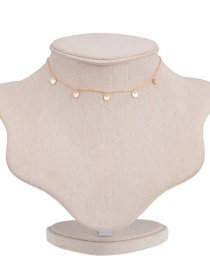 Fashion Gold Color Round Shape Decorated Pure Color Choker