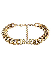 Fashion Gold Color Letter Shape Decorated Chain Choker