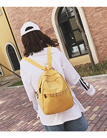Lovely Yellow Pin Shape Decorated Backpack