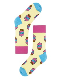 Lovely Multicolor Cake Pattern Decorated Socks