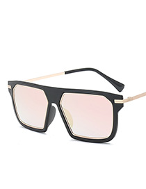 Fashion Pink Color-matching Decorated Irregular Sunglasses