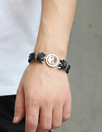 Fashion Black Taiji Shape Decorated Bracelet
